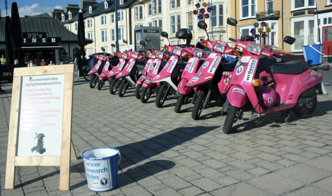 Cancer Wales Moped Ride