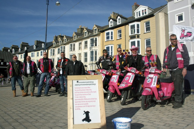 Cancer Wales Moped Challenge