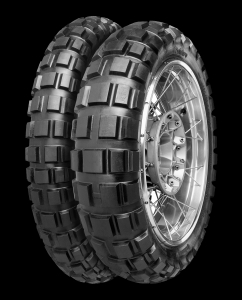 knobbly off-road tyre