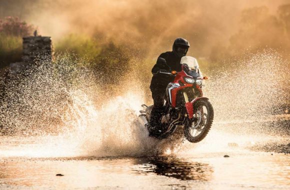 Trail Riding new Honda Africa Twin tyres