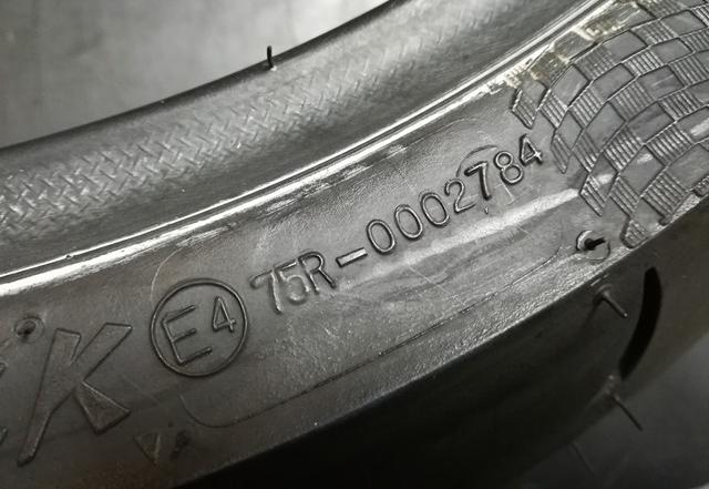 Tyre European homologation marks