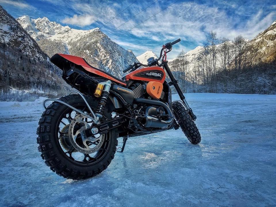 Snow Quake III Harley-Davidson footage