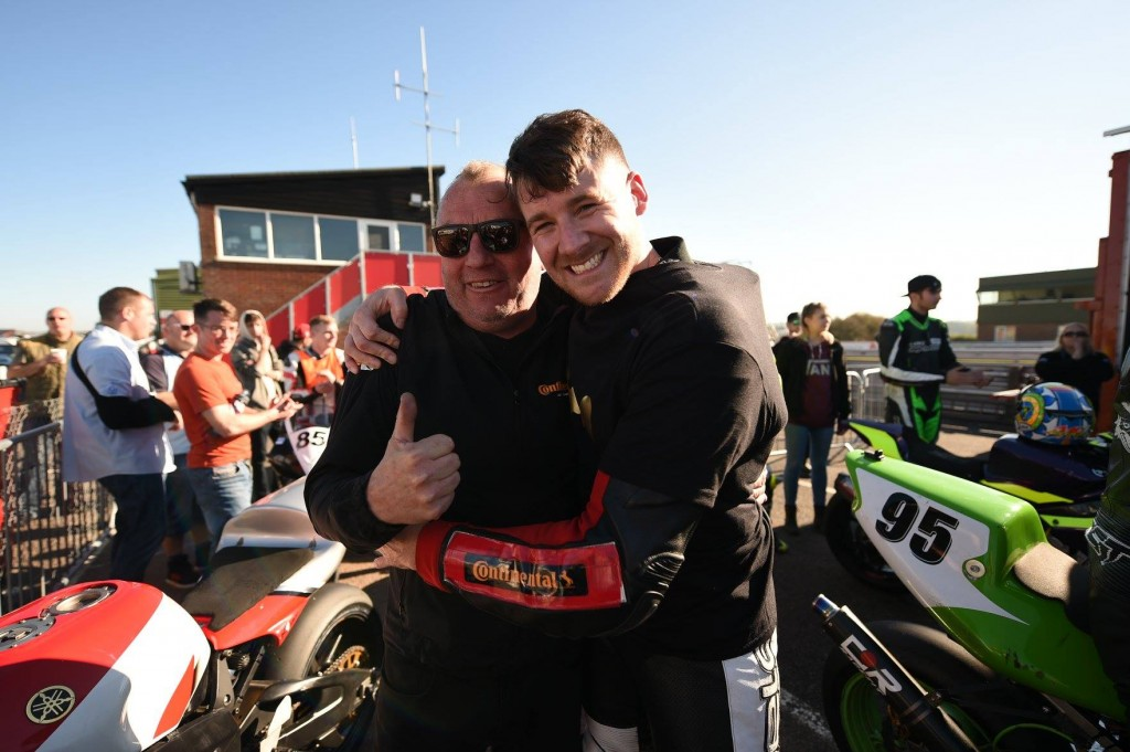 Ryan and Graham celebrate winning the 2018 GP1 Classic championship at Snetterton.